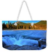 Athabasca Falls In Jasper National Park Weekender Tote Bag
