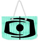 Atomic Shape 1 On Aqua Weekender Tote Bag