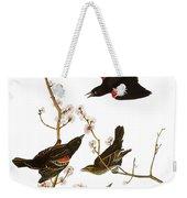 Audubon: Blackbird, (1827) Weekender Tote Bag