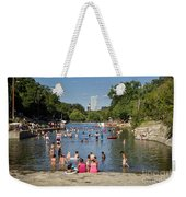 Austinites Love To Lounge In The Refreshing Waters Of Barton Springs Pool To Beat The Sizzling Texas Summer Heat Weekender Tote Bag