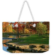 Autumn At The Deer Lake Creek Riffles In Forest Park St Louis Missouri Weekender Tote Bag