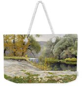 Autumn Landscape In The Vicinity Of Eshar Weekender Tote Bag
