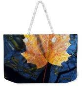 Autumn Leaf On The Water Weekender Tote Bag