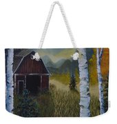 Autumn Red Barn  Weekender Tote Bag