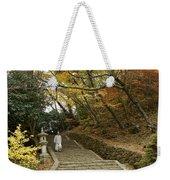 Autumn Stairway Weekender Tote Bag