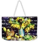 Autumn Sunflowers Weekender Tote Bag