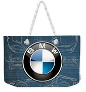 B M W 3 D Badge Over B M W I8 Blueprint  Weekender Tote Bag