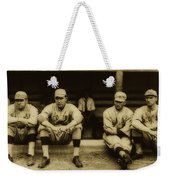 Babe Ruth On Far Left With The Boston Red Sox 1915 Weekender Tote Bag