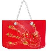 Bacteria Transferred From Hand Weekender Tote Bag