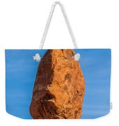 Balanced Rock In Arches National Park Near Moab  Utah At Sunset Weekender Tote Bag
