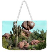 Balancing Act In The Arizona Desert 2 Weekender Tote Bag