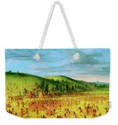 Ball-play Of The Choctaw--ball Up Weekender Tote Bag