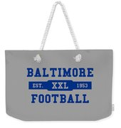 Baltimore Colts Retro Shirt Weekender Tote Bag