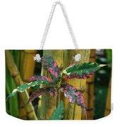 Bamboo Flower Weekender Tote Bag