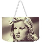 Barbara Bel Geddes, Vintage Actress Weekender Tote Bag