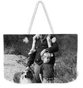 Barry Sadler With Sons And Family Collie Tucson Arizona 1971 Weekender Tote Bag
