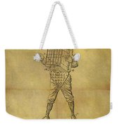Baseball Catcher's Mask Patent Weekender Tote Bag