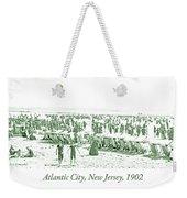 Beach, Bathers, Ocean, Atlantic City, New Jersey, 1902 Weekender Tote Bag