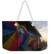 Beach Umbrella Row Weekender Tote Bag