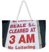 Beale Street Sign Weekender Tote Bag