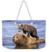Bear Back Rider Weekender Tote Bag