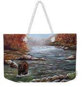 Bear In Fall Weekender Tote Bag
