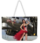 Beautiful 1940s Style Pin-up Girl Weekender Tote Bag by Christian Kieffer