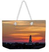 Beautiful Ludington Lighthouse Sunset Weekender Tote Bag