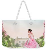 Beautiful Victorian Woman In The Garden Weekender Tote Bag