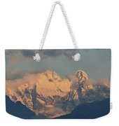 Beautiful View Of The Dolomites Mountains In Italy  Weekender Tote Bag