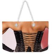 Beautiful Woman In Black Corset Weekender Tote Bag
