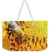 Bee And Sunflower Weekender Tote Bag