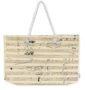 Beethoven Manuscript, 1826 Weekender Tote Bag by Granger