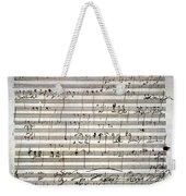 Beethoven Manuscript Weekender Tote Bag by Granger