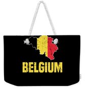 Belgium Flag Apparel Weekender Tote Bag