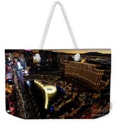 Bellagio Hotel Fountain, Las Vegas Weekender Tote Bag