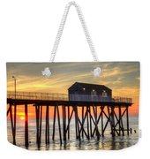 Belmar Fishing Pier Sunrise Weekender Tote Bag