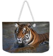 Bengal Tiger Laying In Water Weekender Tote Bag