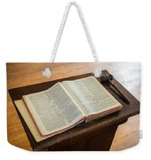Bible And Gavel Weekender Tote Bag