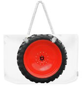 Big Tractor Tire Isolated On White Weekender Tote Bag