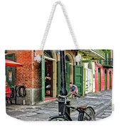 Bike And Lamppost In Pirate's Alley Weekender Tote Bag