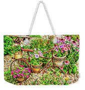 Bike Blossoms Weekender Tote Bag
