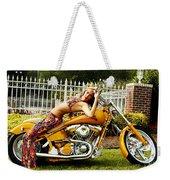 Bikes And Babes Weekender Tote Bag by Clayton Bruster
