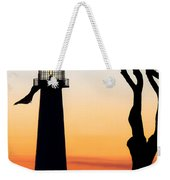 Biloxi Lighthouse At Dusk Weekender Tote Bag