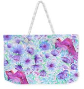 Bird And Flowers Weekender Tote Bag