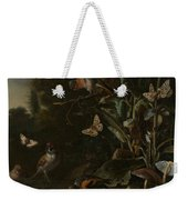Birds Butterflies And A Frog Among Plants And Fungi Weekender Tote Bag