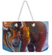 Bison Moon Weekender Tote Bag