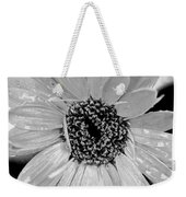 Black And White Gerbera Daisy Weekender Tote Bag