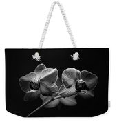 Black And White Orchids Weekender Tote Bag