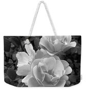 Black And White Roses 2 Weekender Tote Bag